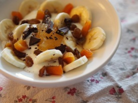 With raisins&dried apricot
