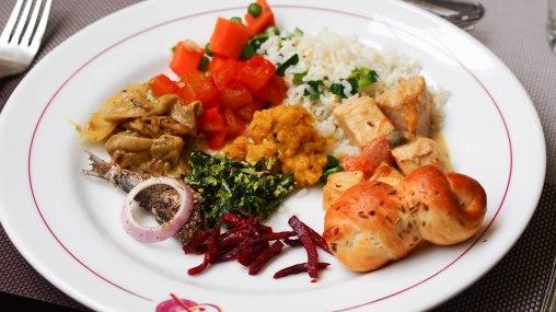 Full plate of local yumm