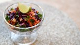 Tangy carrot & red cabbage salad