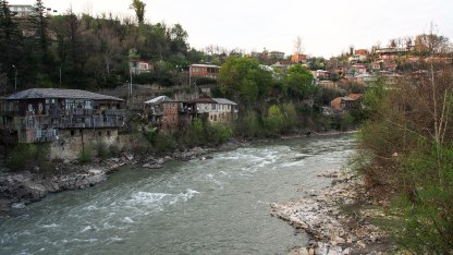 Vast waters of Rioni river runs through Kutaisi